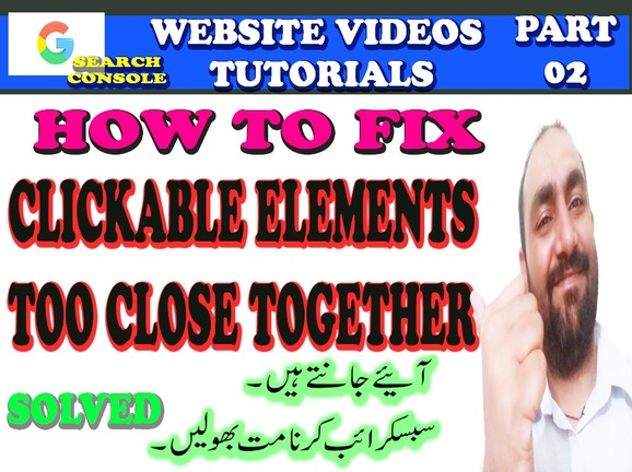 HOW TO FIX CLICKABLE ELEMENTS TOO CLOSE TOGETHER ISSUE ON WEBSITE