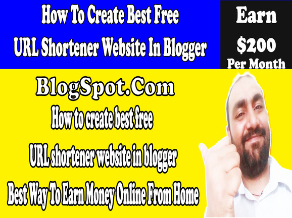 Url Shortner Website in Blogger