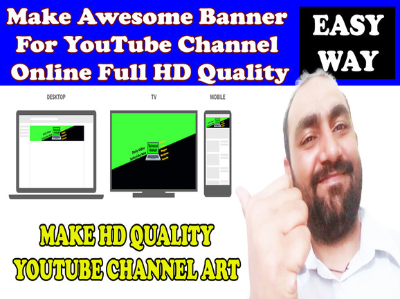 Make Hd Quality Youtube Banner