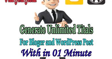 Tital Generator For Blogger And WordPress Post