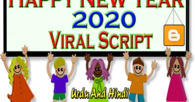 Happy New Year Wishing Script 2020