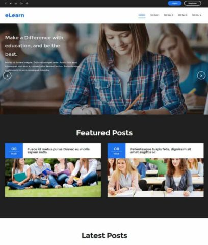 E Learn Blogger Template 2020